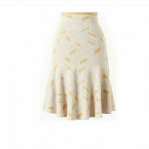 Anthropologie Moth chevron knit fit flare skirt A2